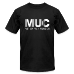 Munich Airport Code Germany MUC Fitted T-shirt