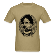 T-Shirts ~ Men's Standard Weight T-Shirt ~ Emo Lincoln (Guy's Tan)