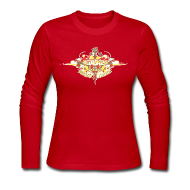 Long Sleeve Shirts ~ Women's Long Sleeve Jersey T-Shirt ~ Restoration Wreath (Autumn)