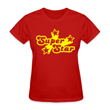 Red Superstar Women's T-shirts