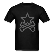 T-Shirts ~ Men's Standard Weight T-Shirt ~ Star&CrossBones (Men's Black)