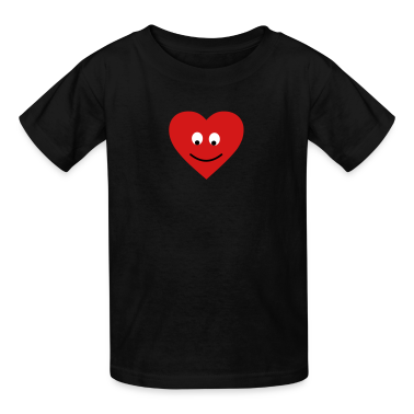 Black heart head Kids Shirts