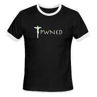 T-Shirts ~ Men's Ringer T-Shirt by American Apparel ~ Pwned Jesus - Glow in the dark