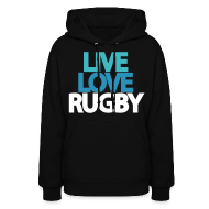 Live Love Rugby Hooded Sweatshirt