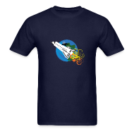 T-Shirts ~ Men's Standard Weight T-Shirt ~ Space Bat Hitching A Ride Mens Tee