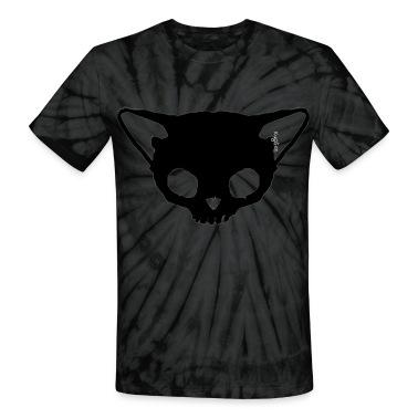 Black Cat Skull Tie dye