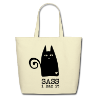 Bags & backpacks ~ Eco-Friendly Cotton Tote ~ Put your sass in a sack!