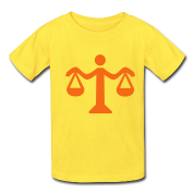 Yellow Scale - Lawyer Kids' Shirts