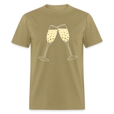 Khaki Toast Love Bubbles T-Shirts