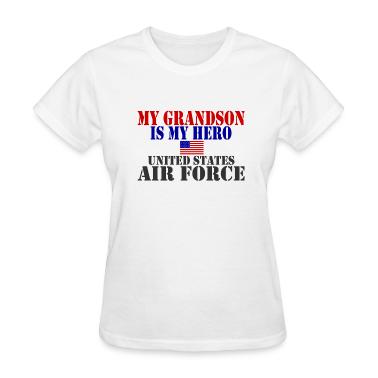 White GRANDSON HERO USAF Women's T-Shirts