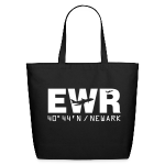 Newark Airport Code EWR Solid Tote Bag Black