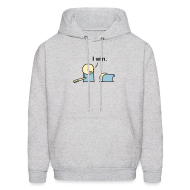 Hoodies ~ Men's Hooded Sweatshirt ~ I Win. men's hoodie