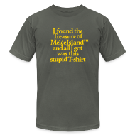 T-Shirts ~ Men's T-Shirt by American Apparel ~ Monkey Island: Melee Island Treasure