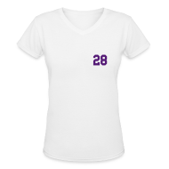 Women's T-Shirts ~ Women's V-Neck T-Shirt ~ Purple Jesus - Females