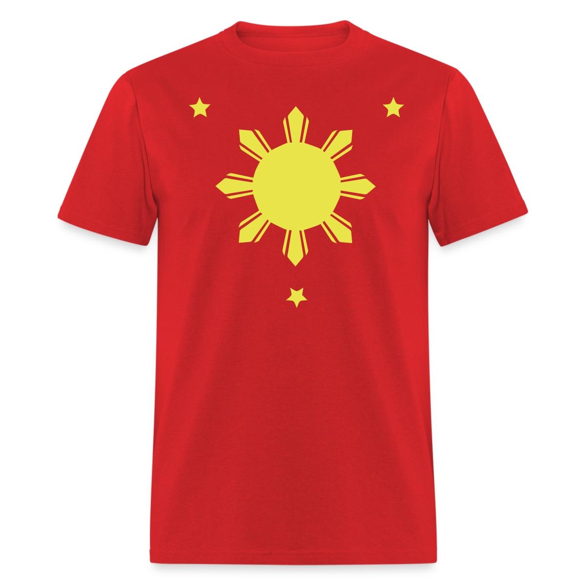 Philippines sun stars men 39 s t shirt ebay for Mens shirt with stars