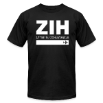 Zihuatanejo Mexico Airport Code ZIH black men's t-shirt solid design