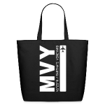 Martha's Vineyard airport code MVY tote beach bag black solid design