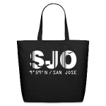 San Jose airport code Costa Rica SJO black tote beach bag