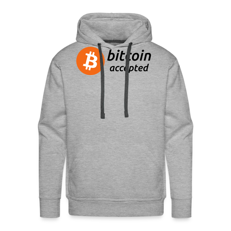 bitcoin accepted with bitcoin (BTC) coin logo - Men's Premium Hoodie