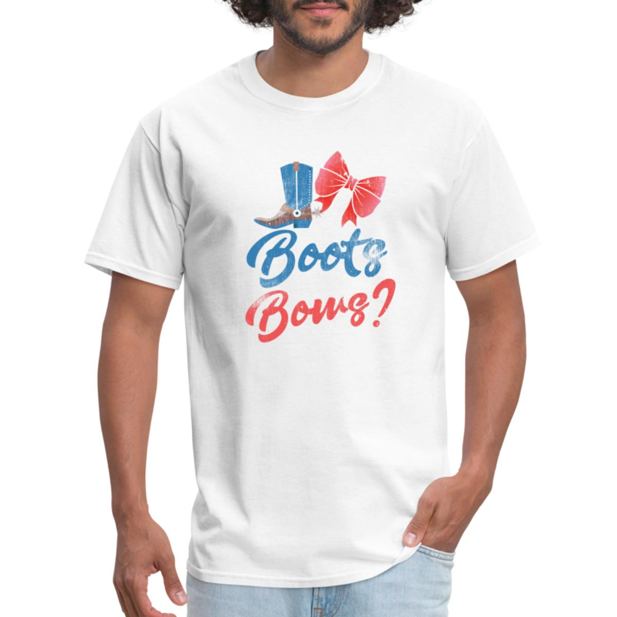 Boots Or Bows Gender Reveal Party Men's T-Shirt