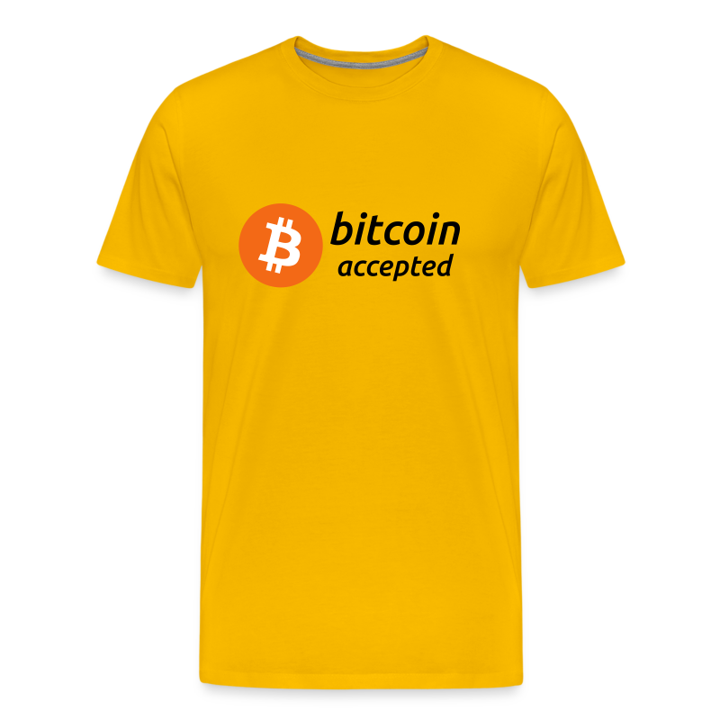 bitcoin accepted with bitcoin (BTC) coin logo - Men's Premium T-Shirt