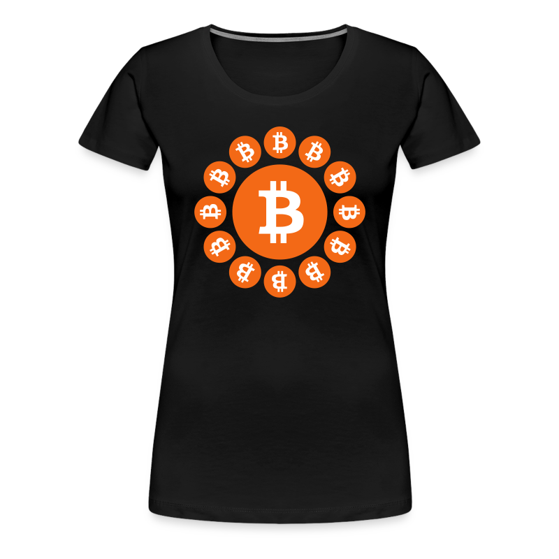 Bitcoin logos on a circle - Women's Premium T-Shirt