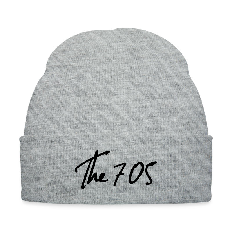 705 Script - Knit Cap with Cuff Print