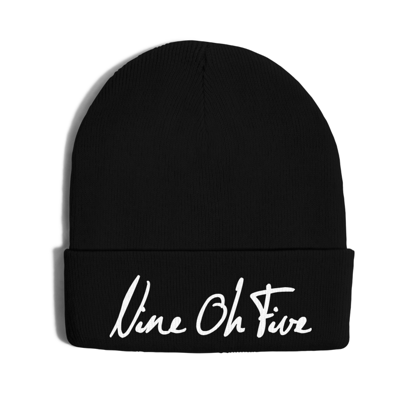 Nice Oh Five Script - Knit Cap with Cuff Print