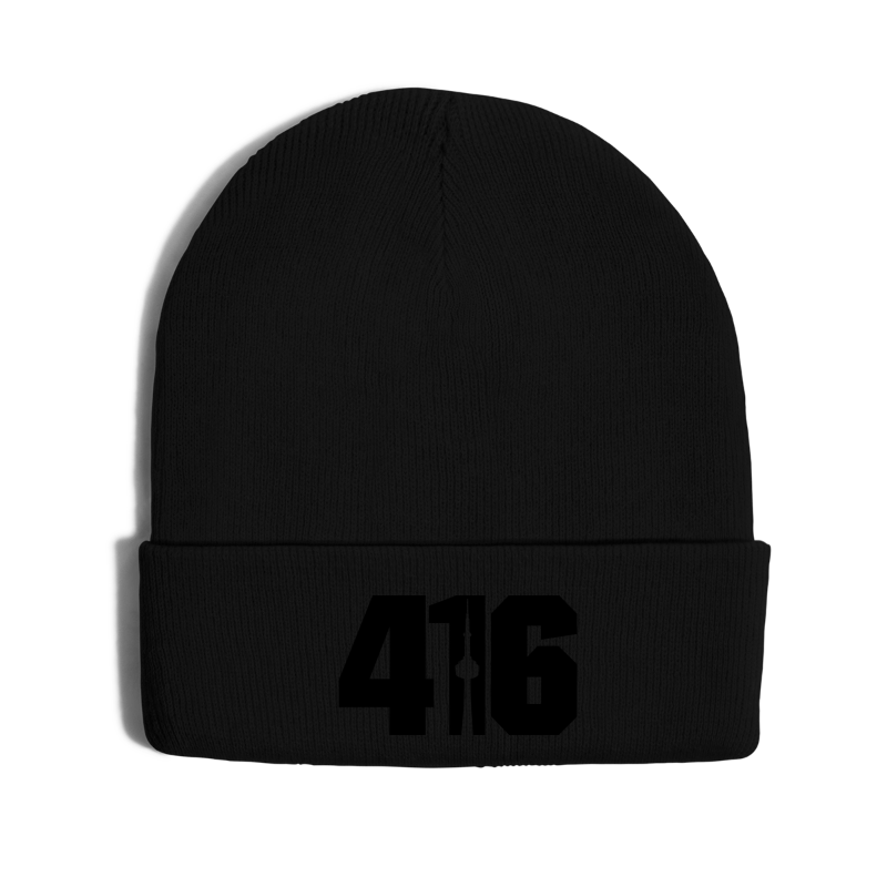 416 Skyline - Knit Cap with Cuff Print